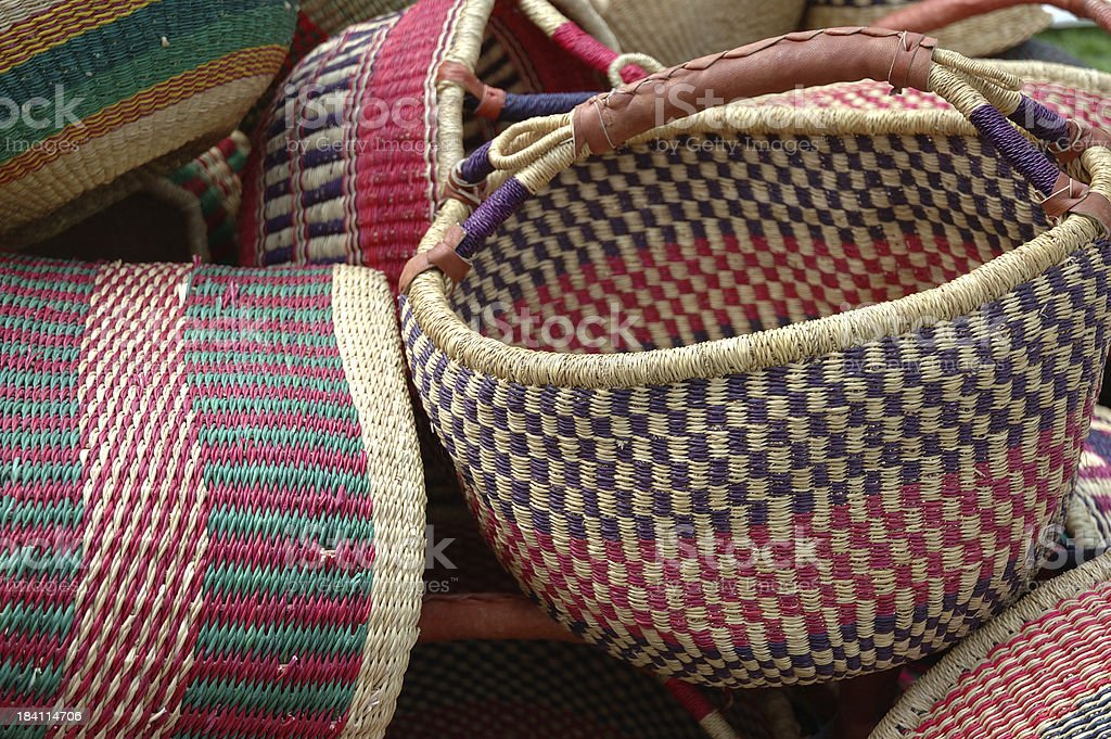 African Baskets royalty-free stock photo