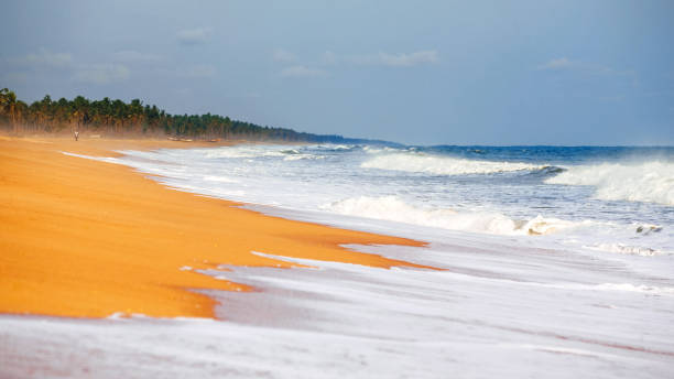 African beach - Ouidah, Benin stock photo