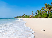 Remote tropical island in Fiji.