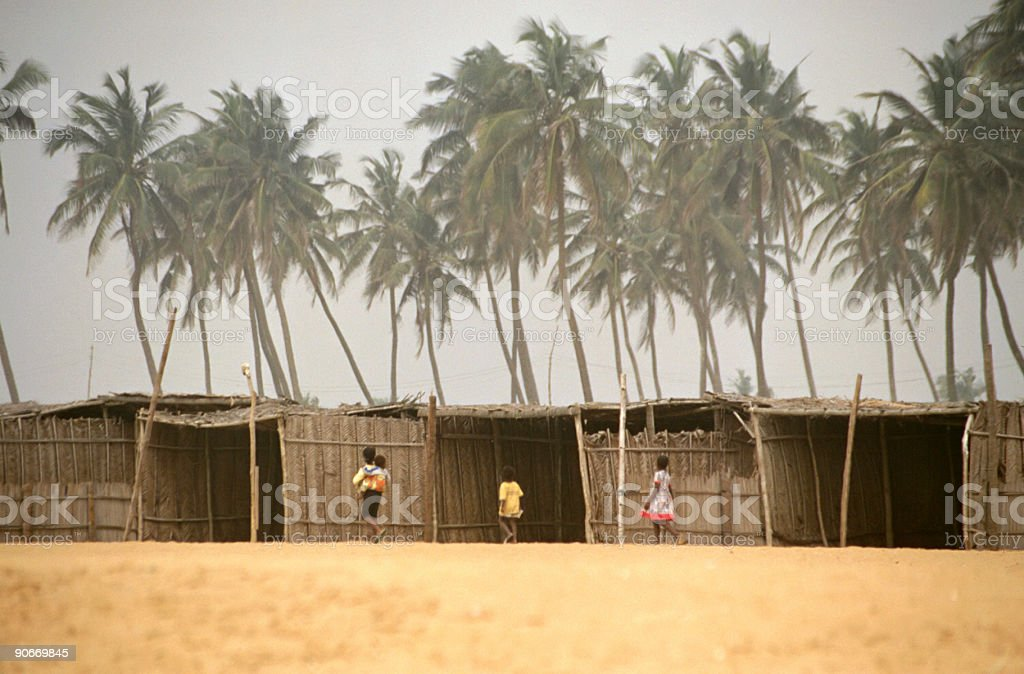 african beachhouses royalty-free stock photo
