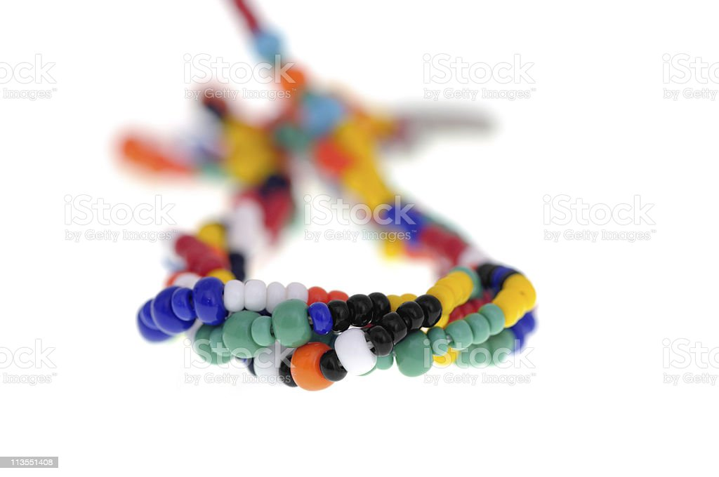 African bead necklace royalty-free stock photo