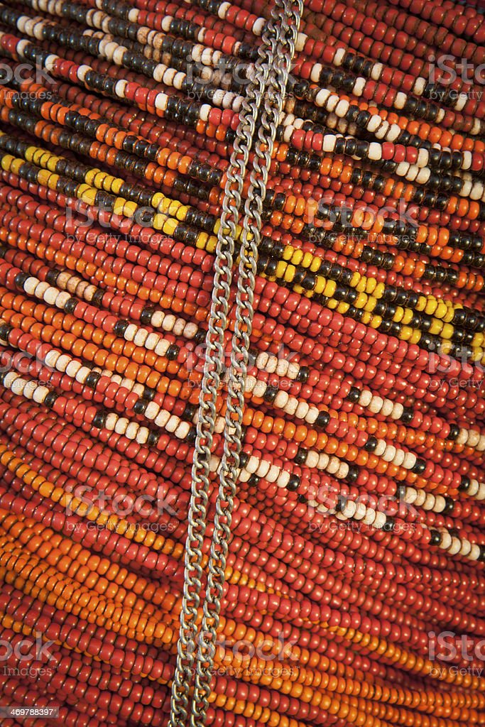 African Beaded Necklace. royalty-free stock photo