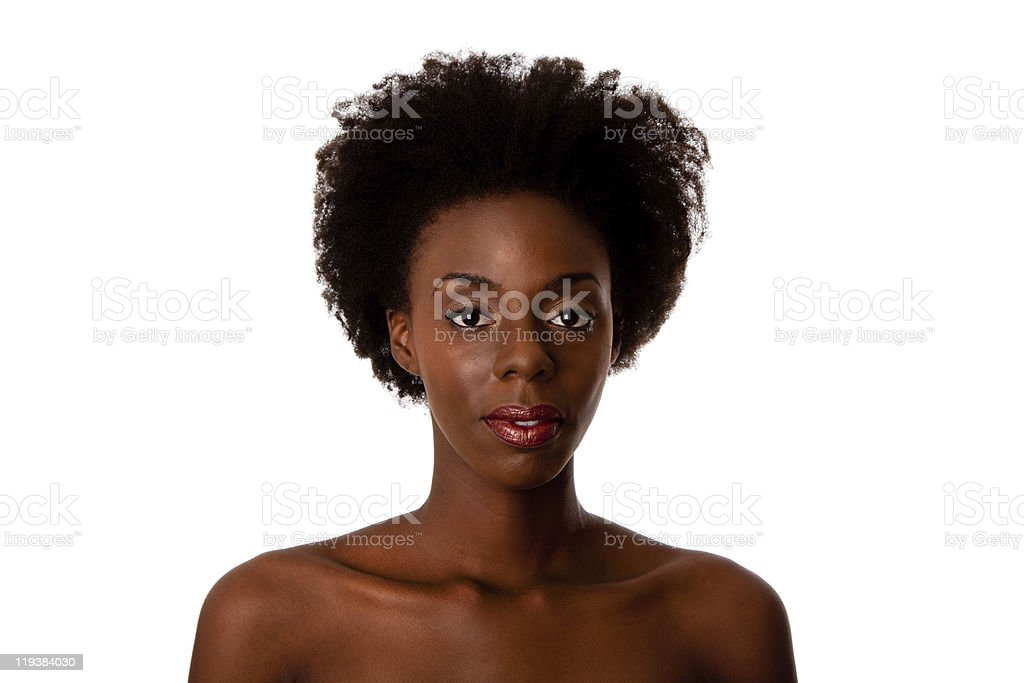 African beauty face stock photo