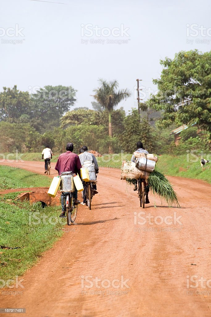 African bicycles stock photo