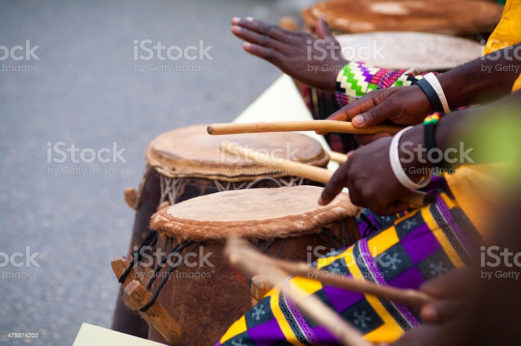 african bongo musician stock photo