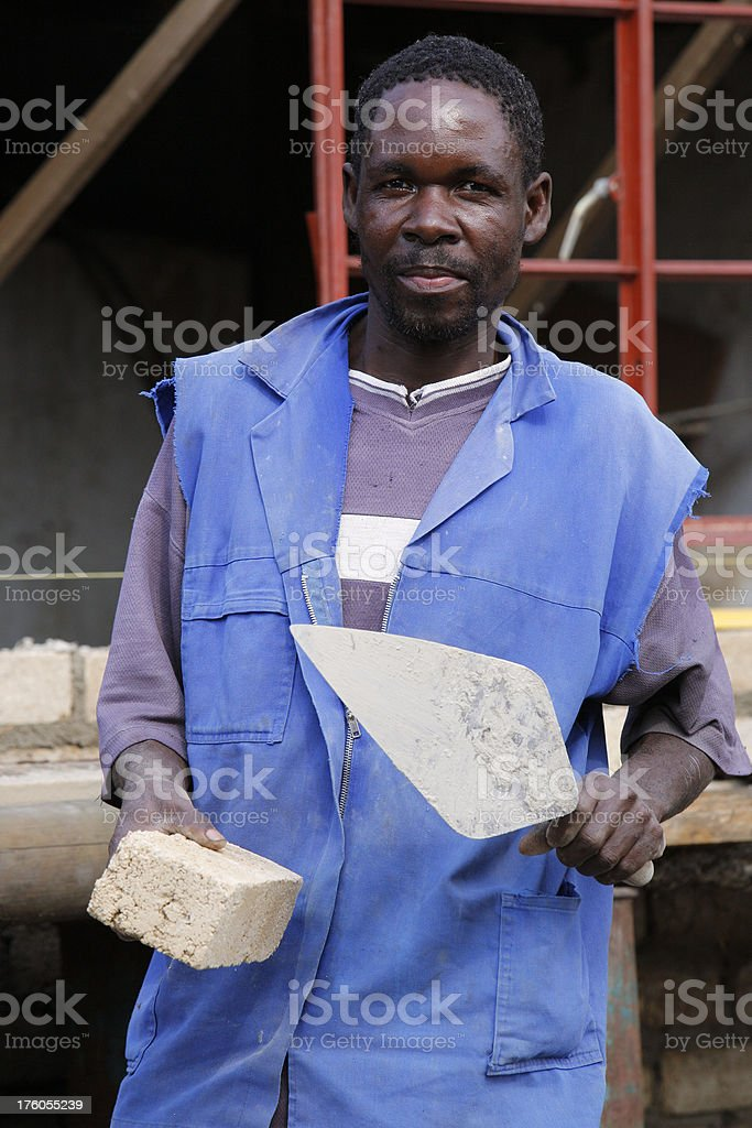 African bricklayer from South Africa royalty-free stock photo