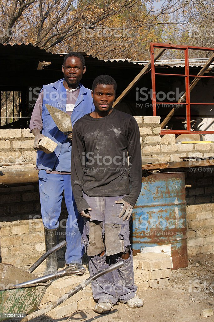African builders royalty-free stock photo
