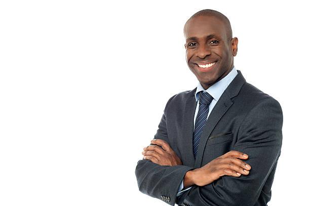 Afroamerikanischer Geschäftsmann, Blick in die Kamera – Foto