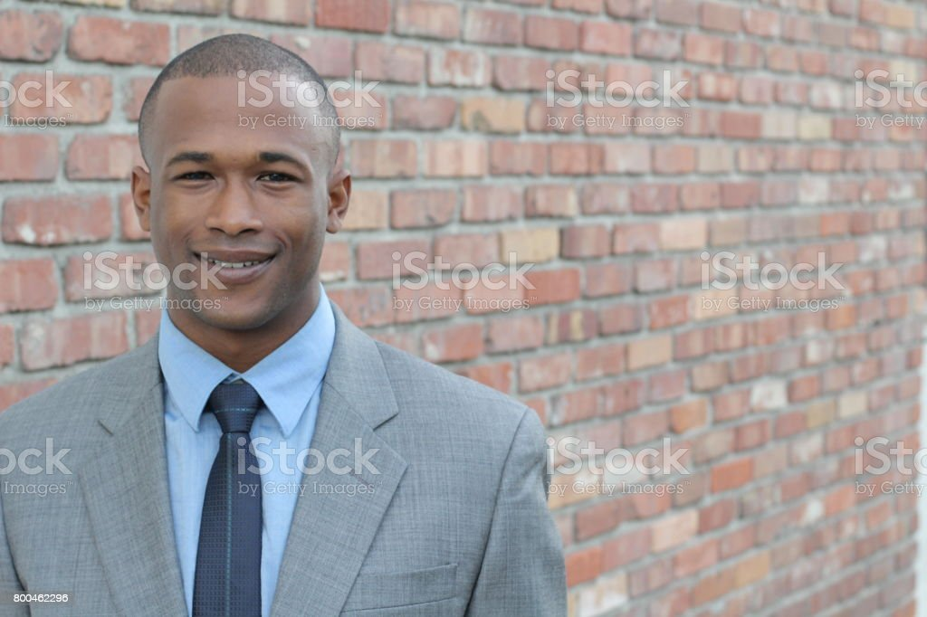 African businessman professional in a formal suit stock photo