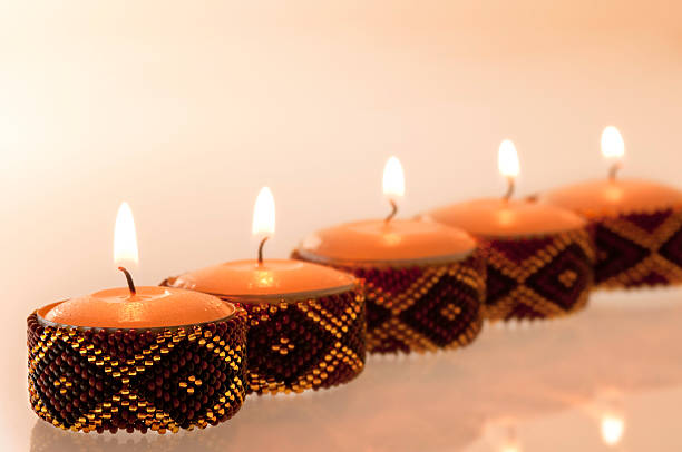 African Candles stock photo