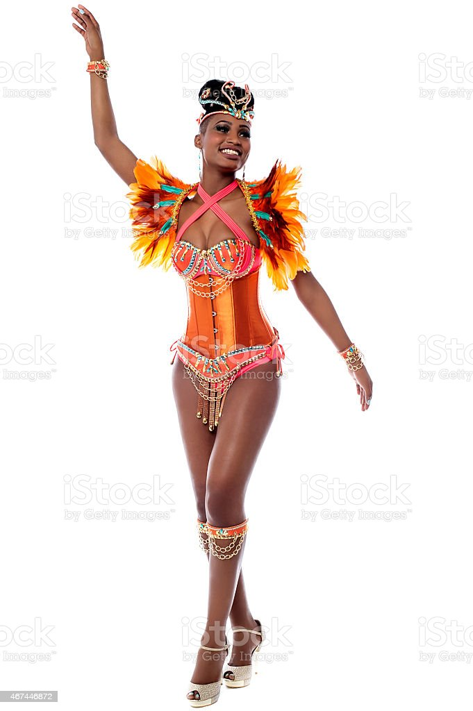 African carnival dancer posing - Royalty-free 2015 Stock Photo