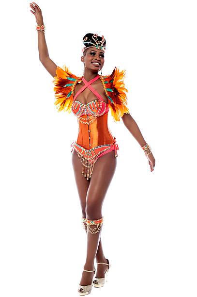 African carnival dancer posing stock photo
