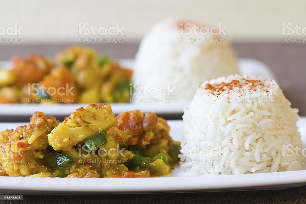 African Cauliflower Beans Dish royalty-free stock photo