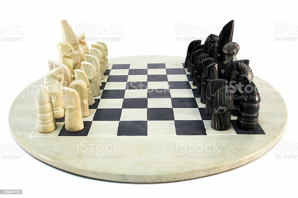 African chess game. royalty-free stock photo