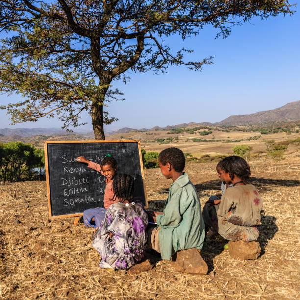 african children during english class, east africa - horn of africa stock photos and pictures