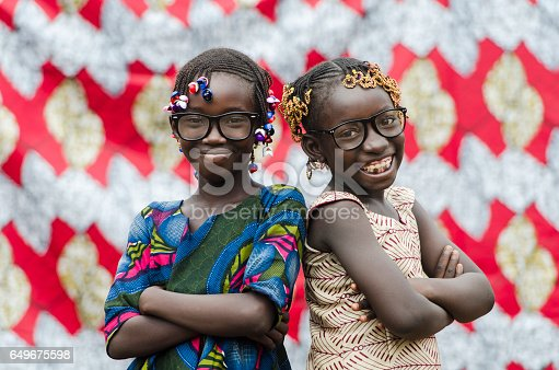 istock African Children Having Fun Together Outdoors with big glasses on 649675598