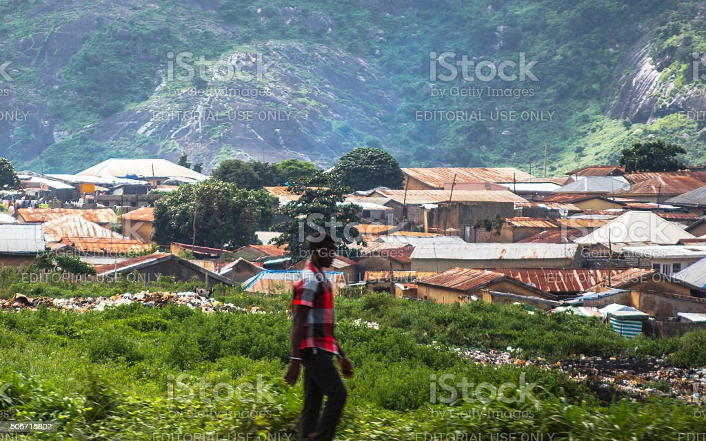 African city. Abuja, Nigeria. stock photo