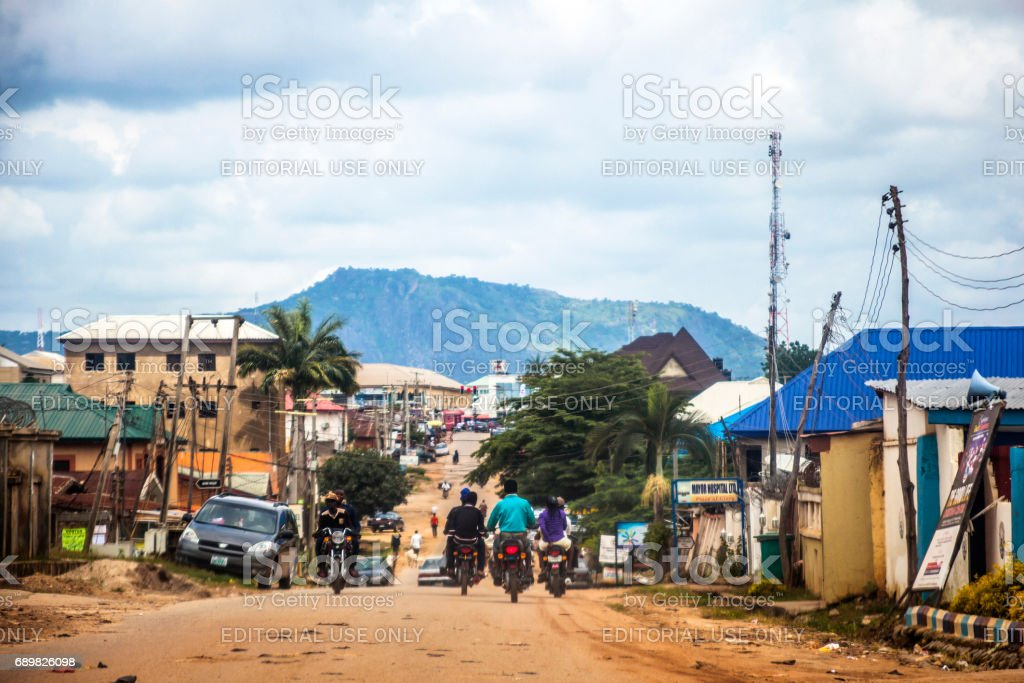 African city - Abuja, Nigeria stock photo