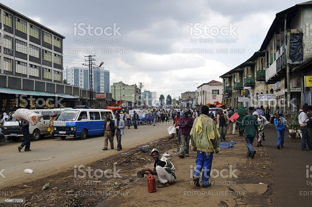 African city Addis Ababa royalty-free stock photo