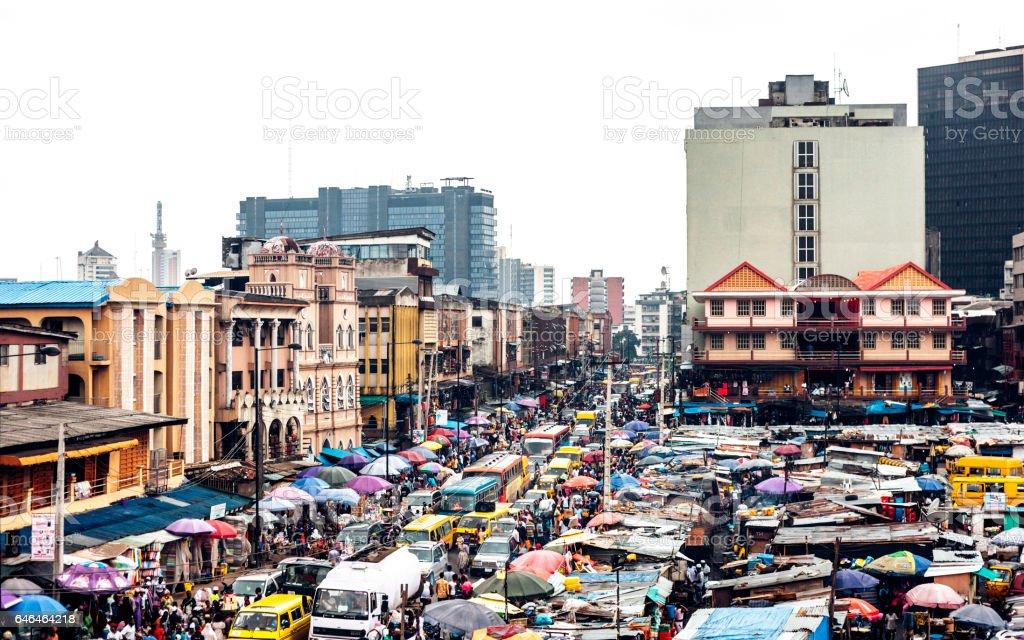 アフリカの都市ラゴス,ナイジェリアます。 - アフリカのロイヤリティフリーストックフォト