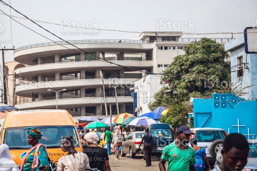 Afrikanische Stadt - Lagos, Nigeria – Foto