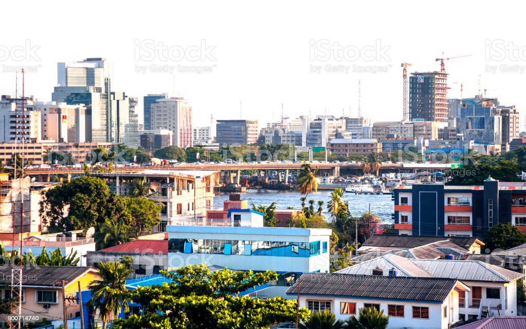 African city - Lagos, Nigeria stock photo