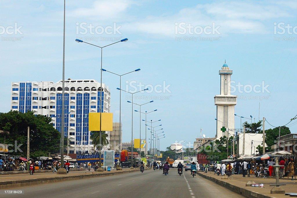 Cidade africana - foto de acervo