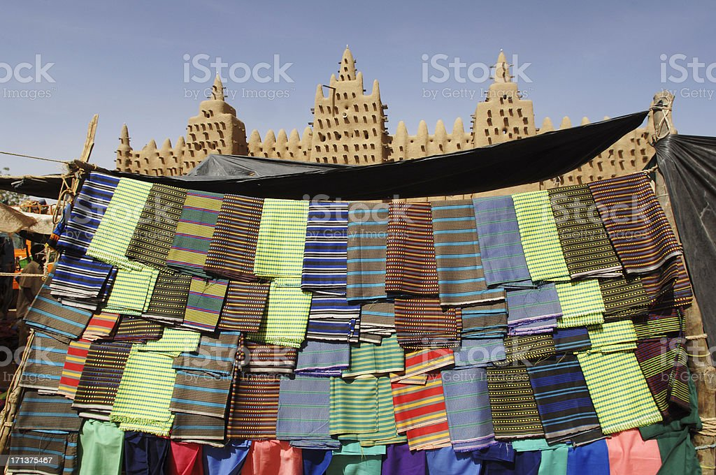 African Cloth stock photo