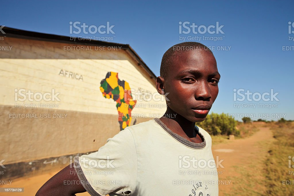 African College Student royalty-free stock photo