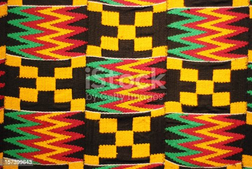 istock African colored pattern fabric background 157399643