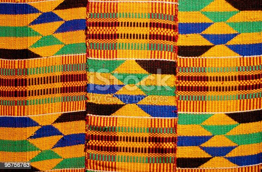 istock African colored pattern fabric background 95756763