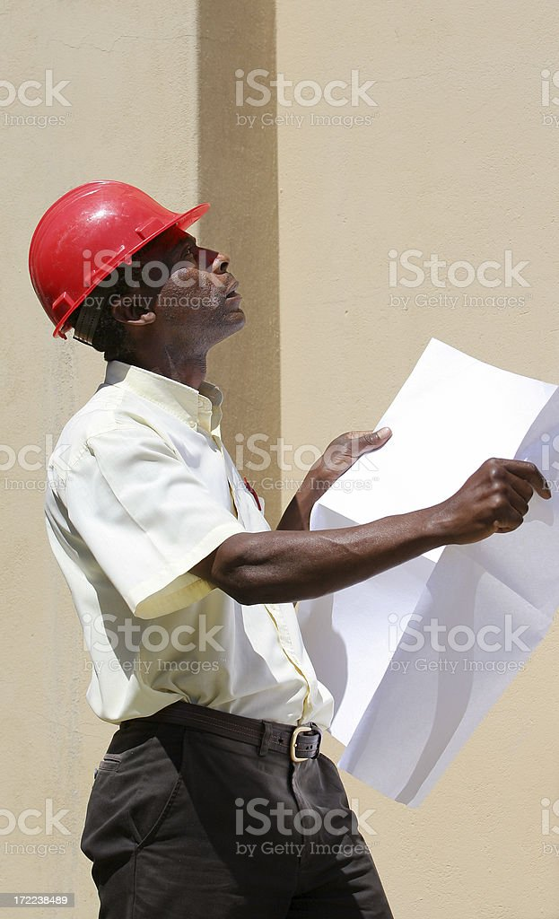African Construction Foreman one royalty-free stock photo