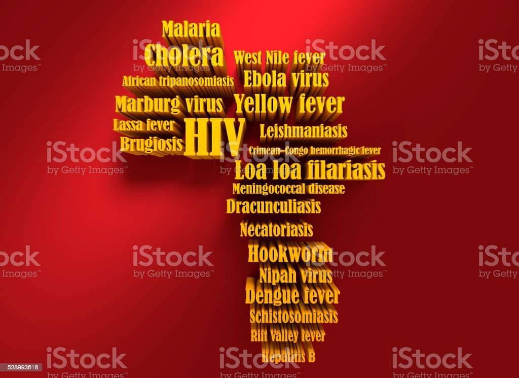 African Continent Diseases Name List Stock Photo - Download