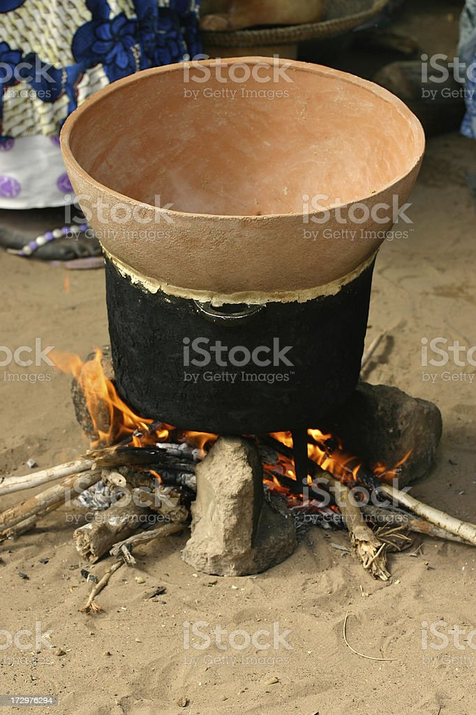 African Cooking royalty-free stock photo