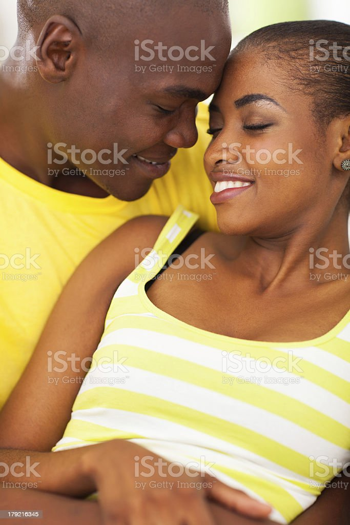 african couple in love royalty-free stock photo