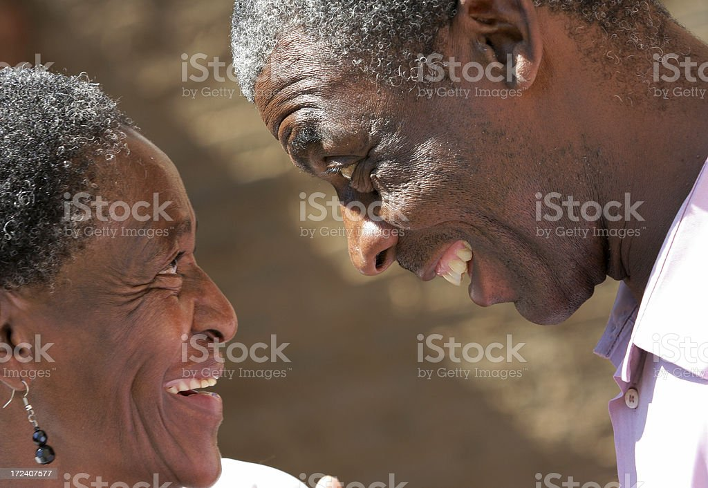African couple laughing royalty-free stock photo