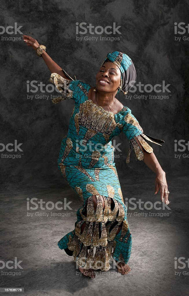 African dancer royalty-free stock photo