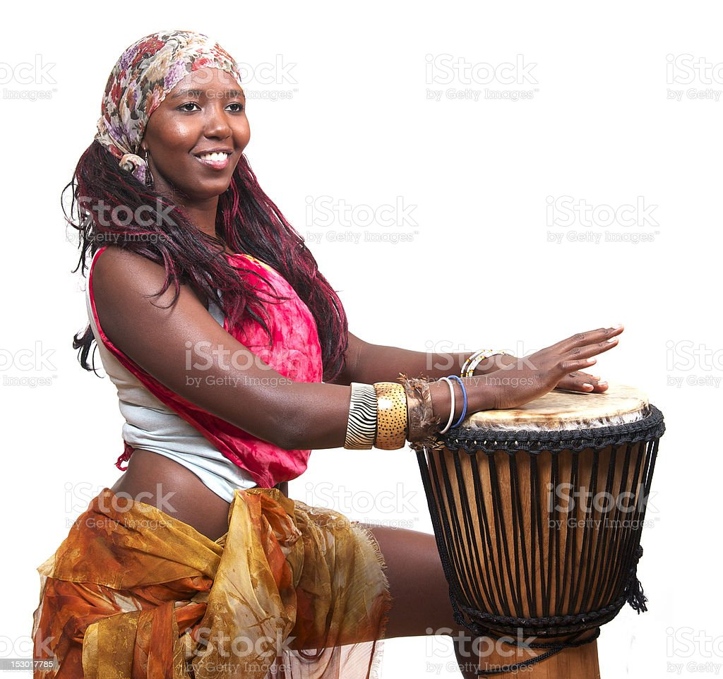 African Djembe Drummer stock photo