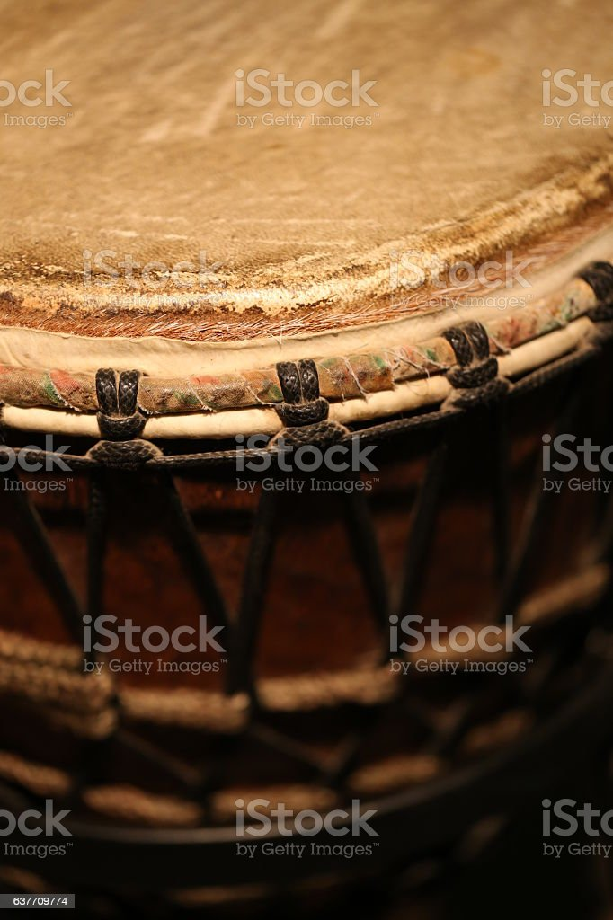 African Drum, Close Up stock photo
