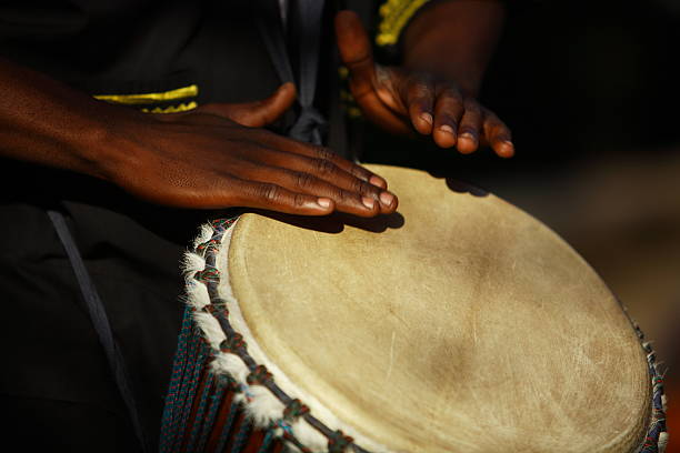 African Drummer stock photo