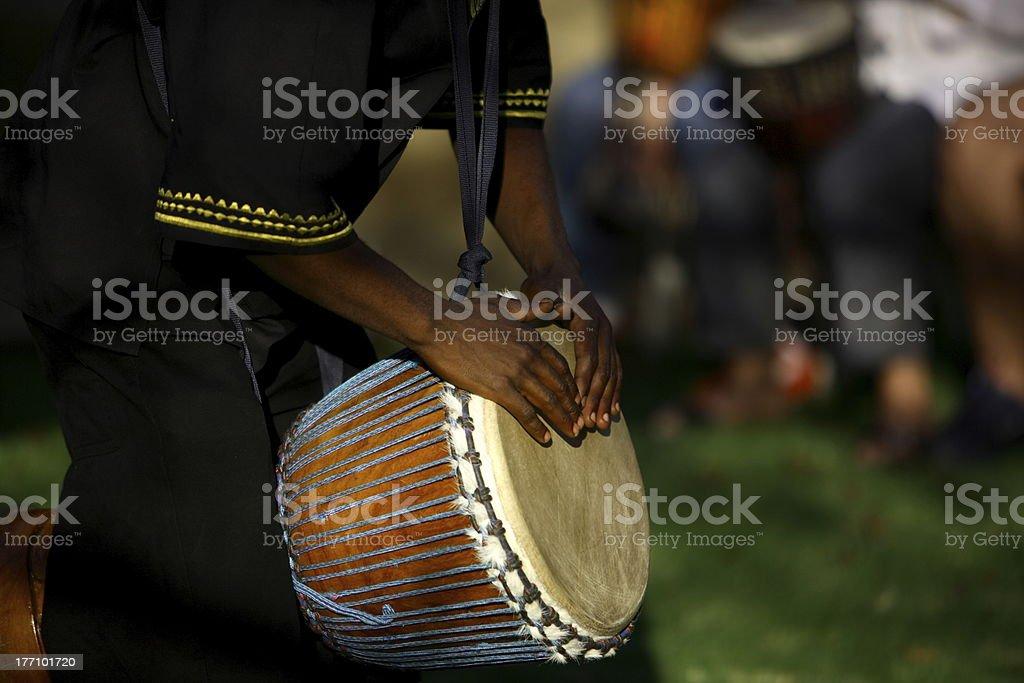 African Drummer stock photo