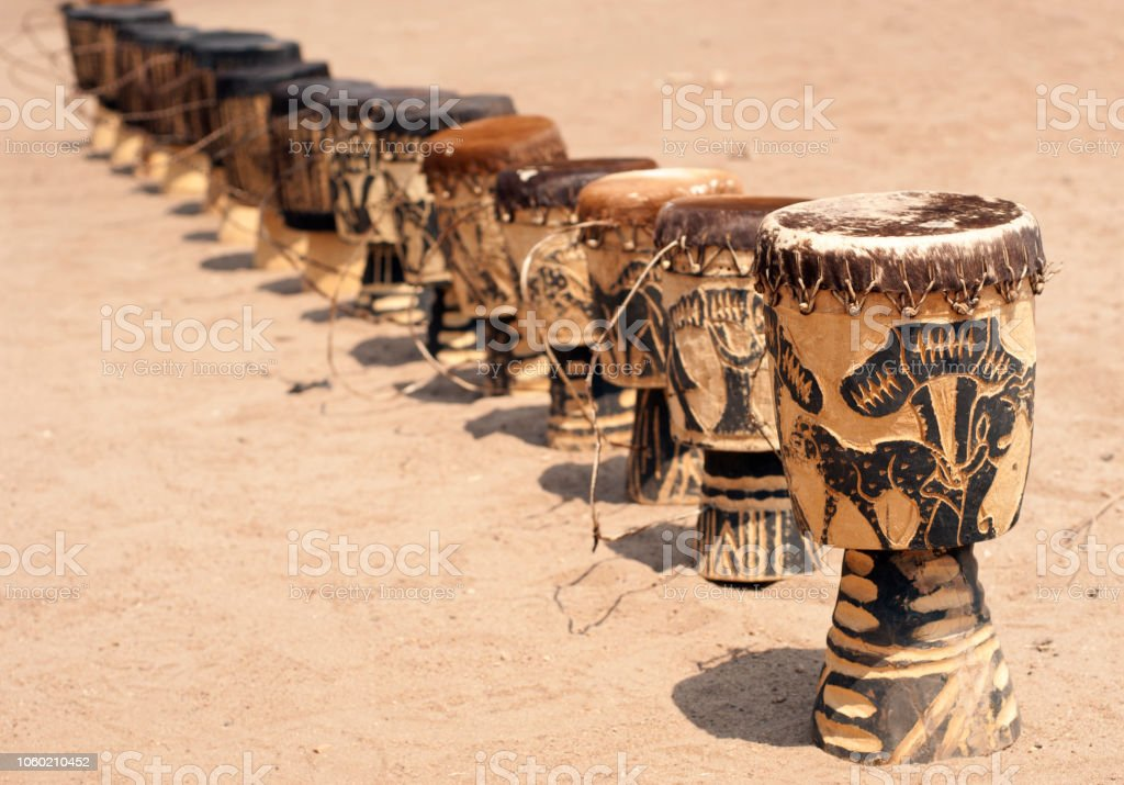 African drums stock photo