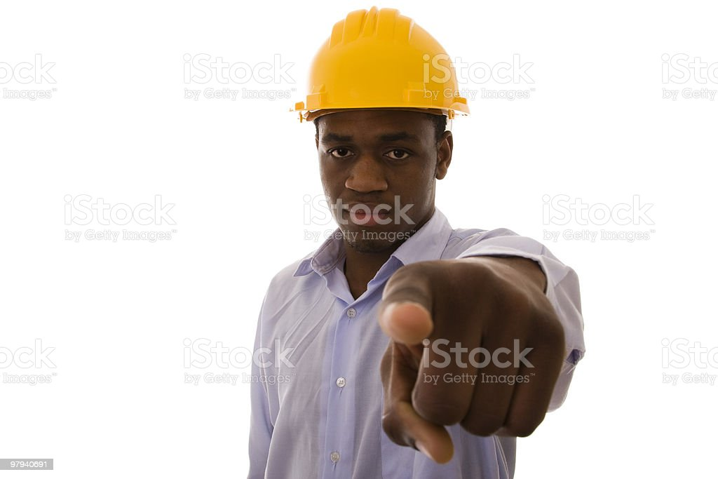 african engineer royalty-free stock photo