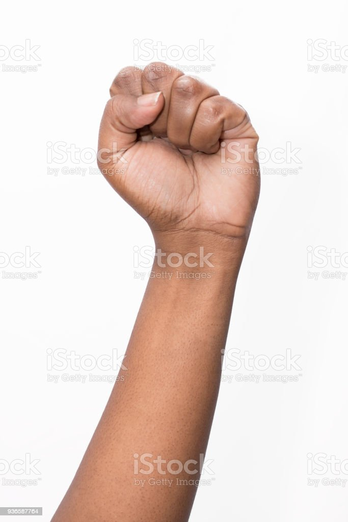 African ethnicity fist stock photo