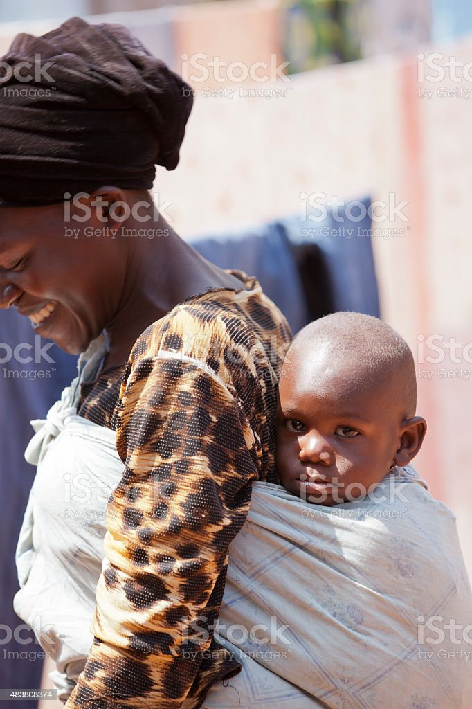African Familly stock photo