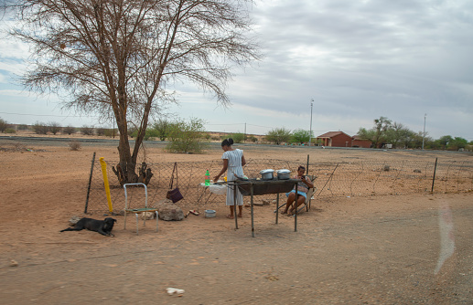 African family cooking, Namibia, Africa