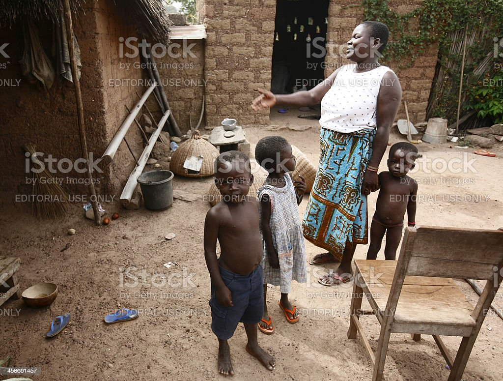 African family. stock photo