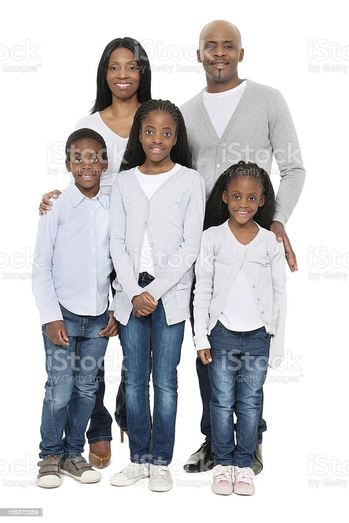 African Family Portrait royalty-free stock photo
