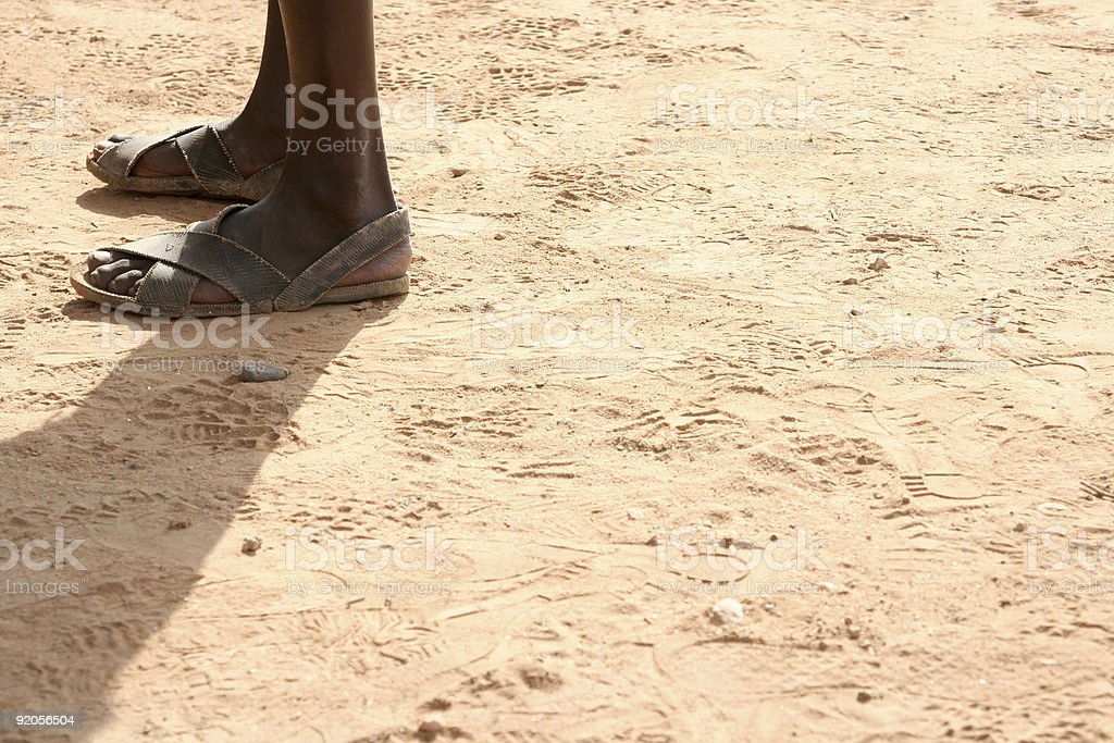 African Feet royalty-free stock photo