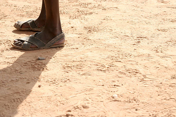 African Feet stock photo